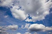 Sky with clouds as background — Stock Photo