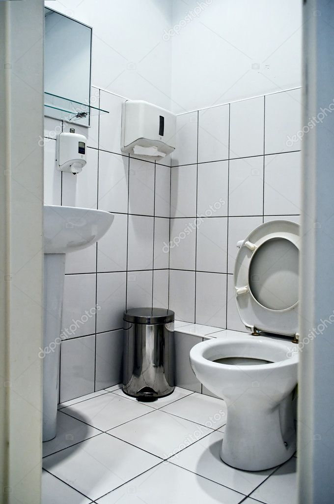 Unrecognizable simple interiors toilet in gray color — Stock Photo #6742671