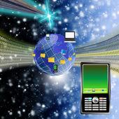 The newest telecommunication technologies — Stock Photo
