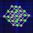 Molecular crystal lattice — Stock Photo
