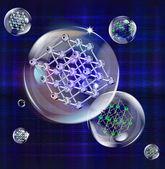 Molekül kristal kafes — Stok fotoğraf