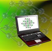 Le più recenti tecnologie di ricerche scientifiche — Foto Stock