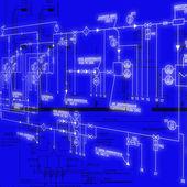 Strojírenské konstruování — Stock fotografie