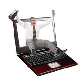 The newest computer innovative technologies — Stock Photo