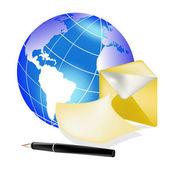 Il messaggio elettronico — Vettoriale Stock