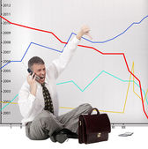 Risk of financial investments — Stock Photo