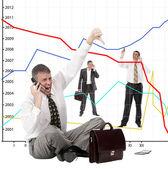 Risco de investimentos financeiros — Foto Stock