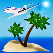 Travel to the tropical countries — Stock Photo