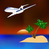 Resort rest on tropical islands — Cтоковый вектор
