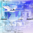 Development of the aviation industry — Stock Photo