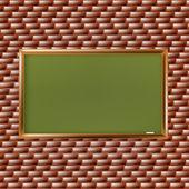 пустой школьной доске в кирпичной стене — Стоковое фото
