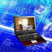 новейшие компьютерные инновационные технологии — Стоковое фото
