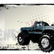 Stock Vector: Monster truck poster