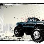 Monster truck poster — Stock Vector