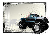 Monster truck poster — Stock Vector