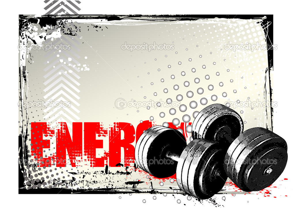 Gym background — Stock Vector © ranker666 #5975609