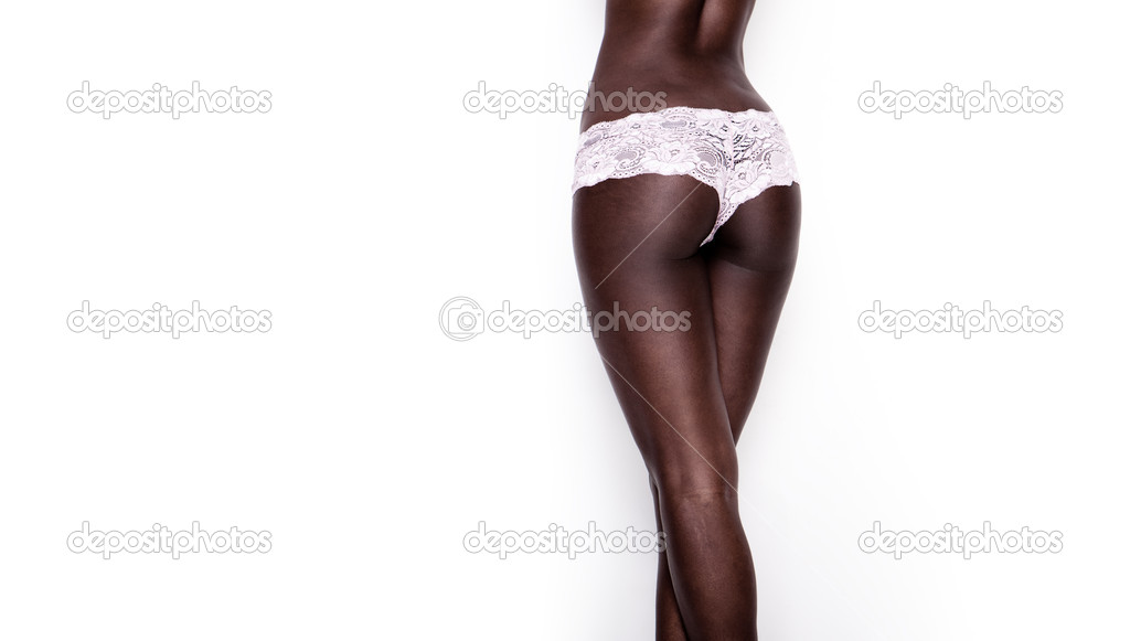 Sexy african woman back lingerie  — Stock Photo #5538804
