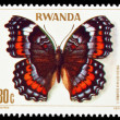 Collection of butterflies stamps. - Stock Photo
