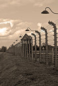 Auschwitz Birkenau concentration camp. — Stock Photo