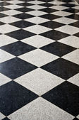 Black and white marble floor. — Stock Photo
