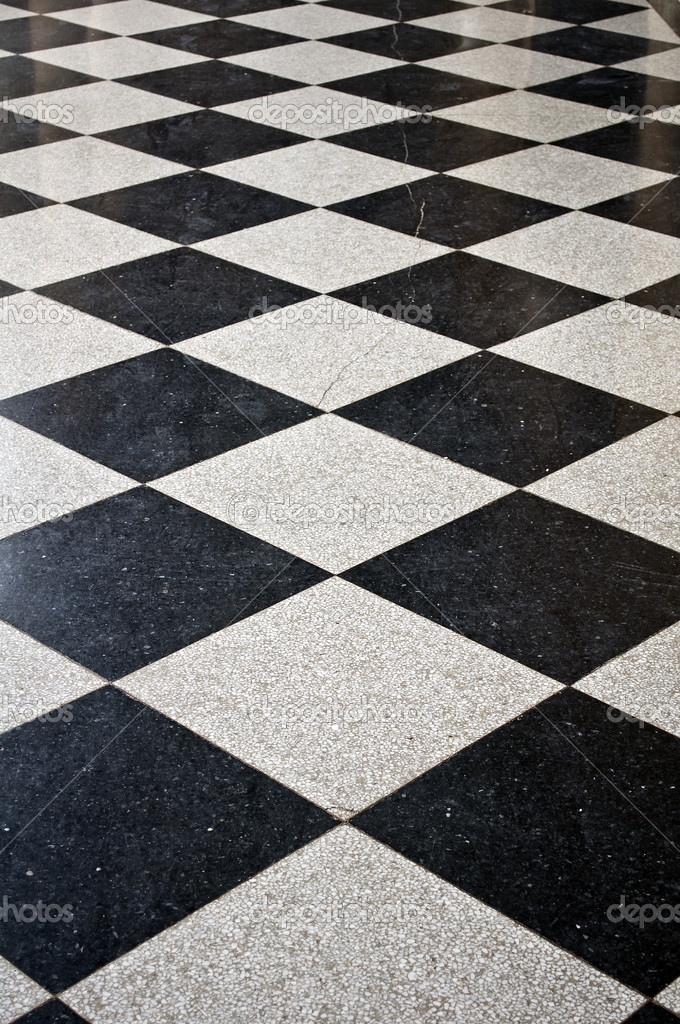 Black And White Marble Floor Stock Photo FER737NG