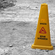 Stock Photo: Yellow cone.