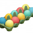 Stockfoto: Easter eggs in pot.