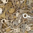 Set of old metal keys. — Stock Photo