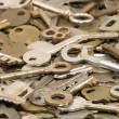 Lot of old keys. - Stock Photo