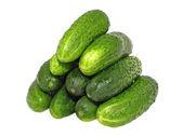 Fresh cucumbers. Isolated — Stock Photo