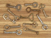 Antiguas llaves metálicas. — Foto de Stock