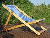 Wooden shaise lounge. — Stock Photo