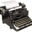 Stock Photo: Vintage typewriter on white background