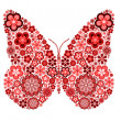 Butterfly made from many various flowers — Stock Photo #5697086