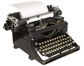 Vintage typewriter on white background — Stock Photo