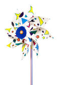 Colorful plastic wind mill — Stock Photo
