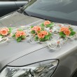 Stock Photo: Car with decorations from flower for driving bride and groom