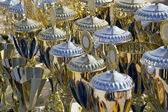 Background made from many champion trophy cups — Stock Photo