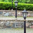Metal old style lamp for street lighting — Stock Photo