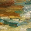 Colorful brushstrokes in oil on canvas — Stock Photo #6015731