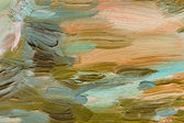 Colorful brushstrokes in oil on canvas — Stock Photo