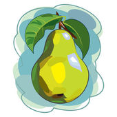 Pear. vector illustration — Stock Vector