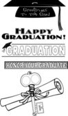 Greetings to the Grad — Stock Vector