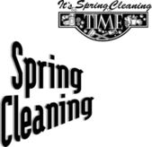 Spring Cleaning Time Title Advertising — Stock Vector