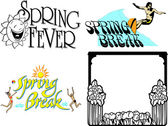 Spring Fever Advertising — Stock Vector