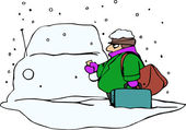 Car Covered with Snow — Vector de stock