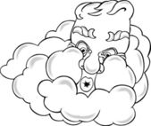 Old Man Winter Cloud — Vector de stock