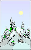 Winter Scene — Vector de stock