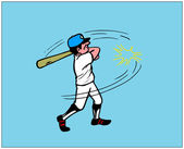 Cartoon Baseball Batter — Stock Vector