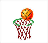 Basketball Backboard — Stock Vector
